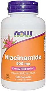 Now Foods Niacinamide 500mg, Vitamin B-3 Capsules, 100-Count (Pack 2)