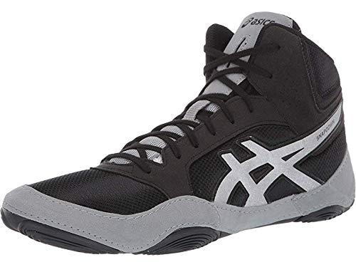 ASICS Unisex Snapdown 2 Wrestling Shoes, 10.5M, Black/Silver