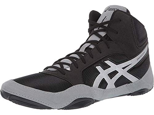 ASICS Unisex Snapdown 2 Wrestling Shoes, 8M, Black/Silver