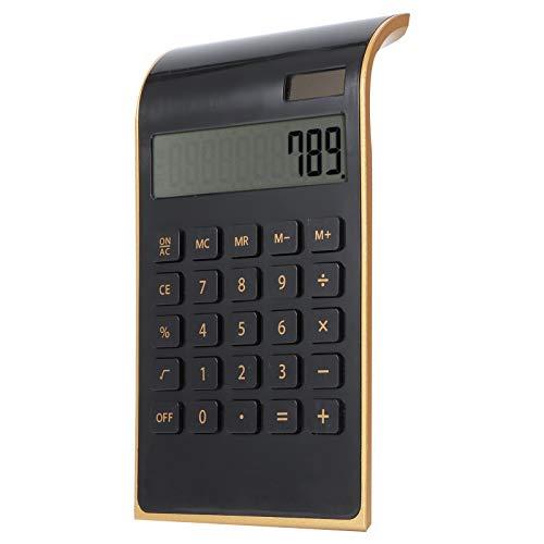 Yatar Calcolatrice finanziaria, calcolatrice Portatile con Display LCD Inclinato, Sottile ed Elegante, Comoda da trasportare, Affari per Regali da Ufficio a casa(Black)