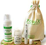 Zowix. Tratamiento Antiacne. Pack completo contra el Acne facial, con Espuma de limpieza, Serum intensivo y Crema. Elimina granos, espinillas y puntos negros de forma natural.