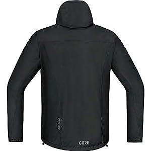 GORE WEAR C3 Chaqueta de hombre con capucha GORE-TEX, M, negro