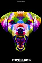 Notebook: Angry Dog Head On Pop Art Wpap , Journal for Writing, College Ruled Size 6