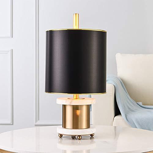VIWIV Lámpara de Escritorio Lámpara Creativa mármol Metal Escritorio lámpara Estudio Dormitorio Junto a la Cama Moderna Sencilla Sala de Estar Lujo lámpara de Mesa Decorativa 28 * 59cm