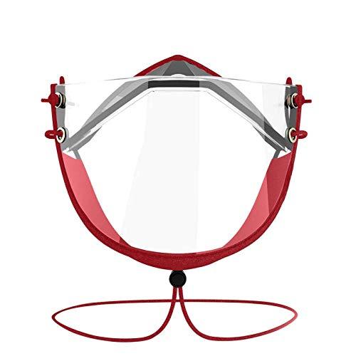 LANJIA Gesichtsbedeckung Adult Face Bandanas Staub Wiederverwendbares waschbares Kostümzubehör Transparent 𝐌𝐚𝐬𝐤 Wiederverwendbares Antibeschlagmittel 𝐌𝐚𝐬𝐤 Nicht medizinisch