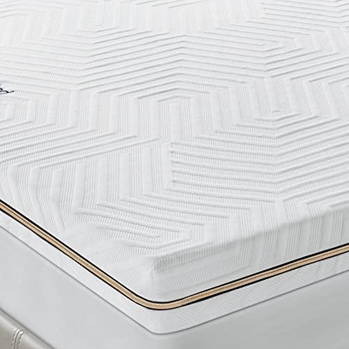 BedStory 7,6cm Memory Foam Topper, Matratzen-Topper in 4 Fusion (Gel+Bambus+Grüner Tee+Kupferion), Matratzenauflage mit waschbarem Bezug, bequemer Topper für Matratzen & (180 x 200 cm)