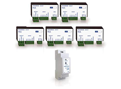 Fantini Cosmi ODK01T Kit di Automazione con 5 Tapparelle, Bianco