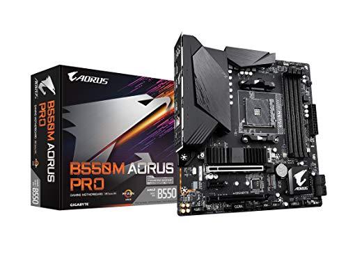 GIGABYTE B550M AORUS PRO (AM4 AMD/B550/Micro ATX/Dual M.2/SATA 6Gb/s/USB 3.2 Gen 2/PCIe 4.0/HDMI/DVI/DDR4/Motherboard)
