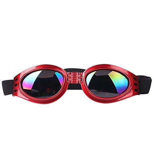 Pet Glasses Dog Sunglasses Dog Glasses Golden Retriever Samoyed Sunglasses Goggles Big Dog Sunglasses (Red)