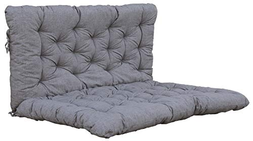 Ambientehome Palettenkissen inkl. Rückenteil Sitz/120x80, Rücken 120x60 hellgrau