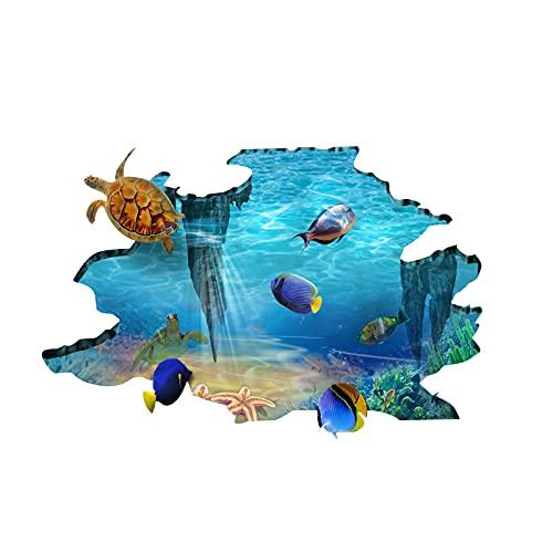 Arte de Bricolaje Hogar Fotos Pared Decoracion Habitacion 3D Etiqueta Pared Océano Pegatinas Decorativas Pared Habitacion Salón Pared Stickers Dormitorio Vinilos Pared Cuarto Niños Adhesivos Pared