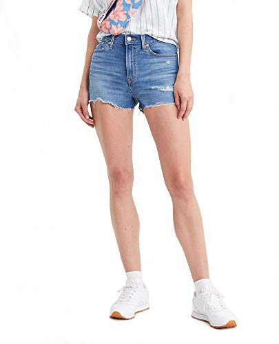 Levi's Women's High Rise Shorts, Tribeca Sapphire Dust, 26 (US 2)