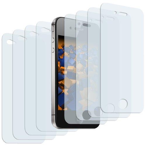 mumbi Schutzfolie kompatibel mit iPhone 4 Folie, iPhone 4s Folie klar, Displayschutzfolie (8X)