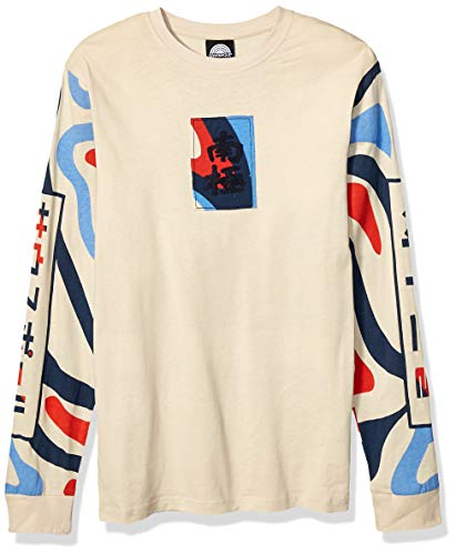 Southpole Men's Utility Fashion T-Shirt (Short & Long Sleeve), Bone Long, Large
