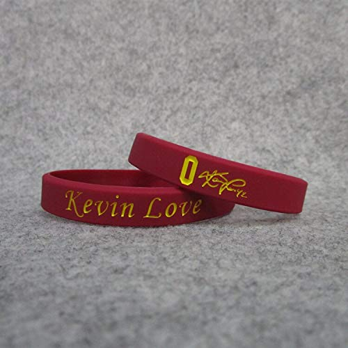 XIXI 0 Cavaliers Basketball-Star Kevin Love Unterschrift leuchtende Hand Ring Silikon Sport Armband (Color : Red, Size : 19CM)