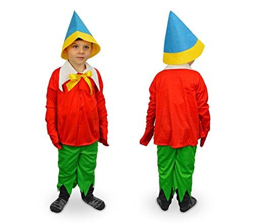 MWS 619564 Disfraz de Carnaval Motivo PINOCHO (3 a 12 años) (6-8 años)