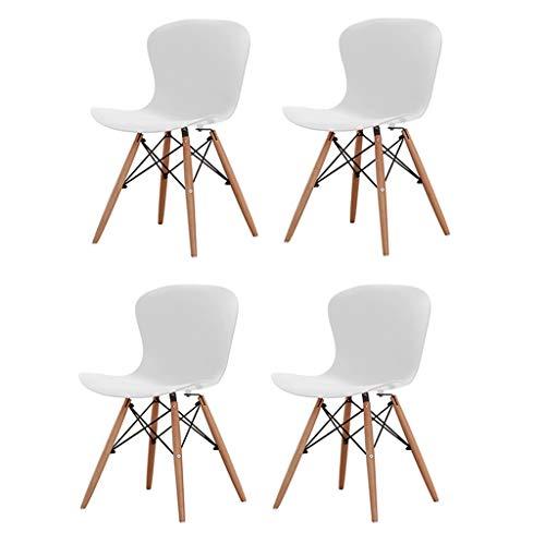 Zcxbhd Eiffel eetkamerstoelen, moderne elegante designer eettafel/lounge kunststof stoel, duurzaam, pak van 4