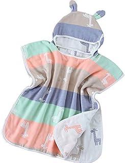 Print Yoga Mat Children'S Bath Towel Giraffe Cloak Hood Cotton Gauze Absorbent Wearable 瑜伽垫