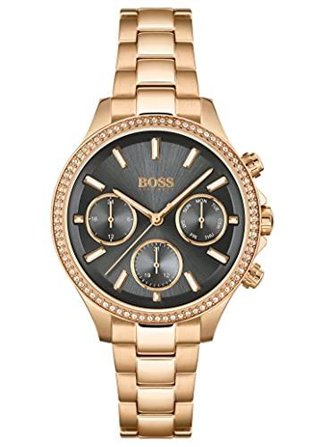 Hugo Boss Reloj Analógico para Mujer de Cuarzo con Correa en Acero Inoxidable 01502566