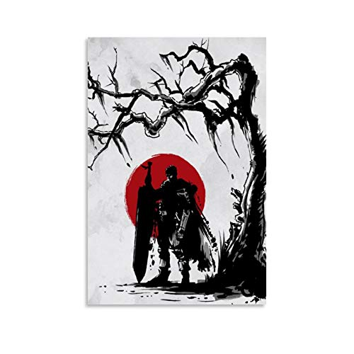 OYYM Anime Berserk Guts Art Canvas Art Poster and Wall Art Picture Print Modern Family Bedroom Decor Posters 12x18inch(30x45cm)