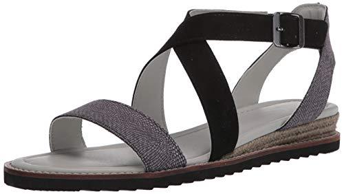 JBU by Jambu Women's Caymen Flat Sandal, Black, 6 Medium US