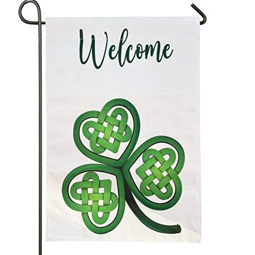 Gz party Celtic Shamrocks St. Patrick's Day Garden Flag Vertical Double Sided 12.5 x 18 Inch Farmhouse Spring Holidays St. Patrick's Day Irish Yard Garden Outdoor Decor (b)