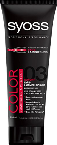 Syoss Color Luminance und Protect Sofort-Farblaminierungskur, 2er Pack (2 x 250 ml)