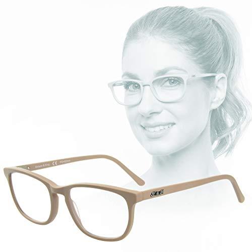 Edison & King - Soul Mirror: als een tweede huid - Leesbril in nude-look, van huidvriendelijk acetaat, vrij van schadelijke stoffen
