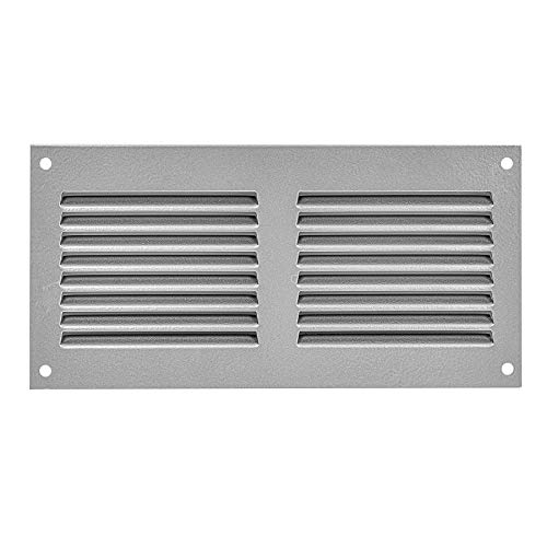 Air Vent Cover Steel Return Air Grilles - for Ceiling and Sidewall - HVAC - with Insect Protection Screen (8x4 inch, Gray)
