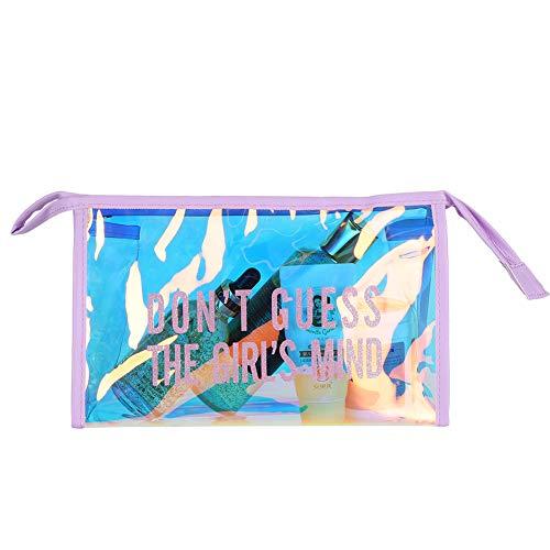 Trousse de toilette, sacs cosmétiques transparents imperméables multifonctions pour les vacances pour l'organisation(Violet)