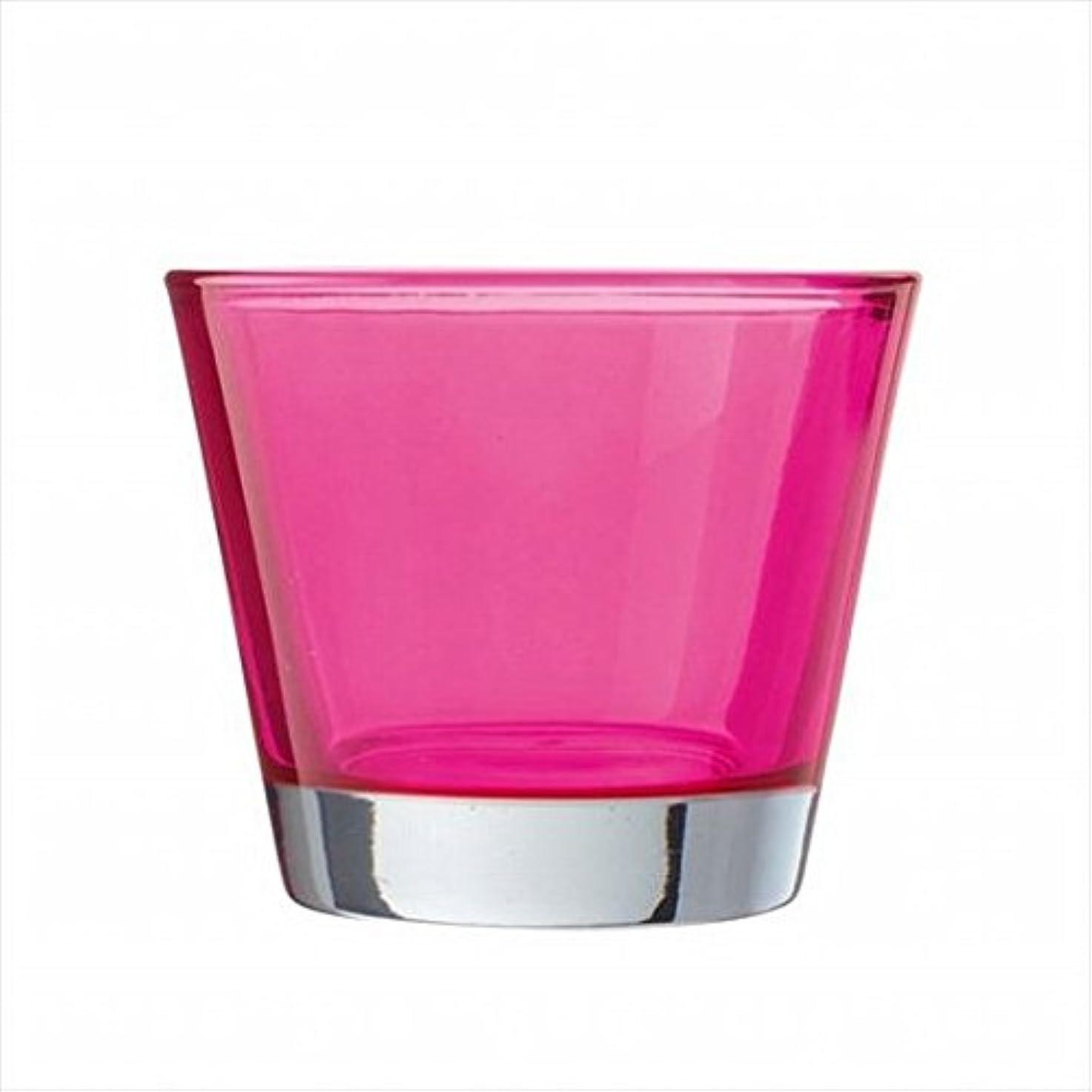 リズミカルなシェーバー不均一kameyama candle(カメヤマキャンドル) カラリス 「 ピンク 」 キャンドル 82x82x70mm (J2540000PK)