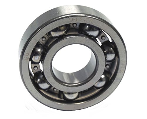 Shuster 6305 JEM Deep Groove Ball Bearing, Single Row, Open, Electric Motor Quality, C3 Clearance, 62 mm Height, 17.0 mm Width, 62 mm Length, 25.0 mm ID, 62 mm OD, High Carbon Chrome Bearing Steel