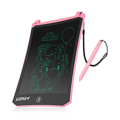 ERUW Tableta de Escritura LCD 8,5 Pulgadas, Tablet Escritura Pantalla LCD eWriters Infantil Tableta Grafica Dibujo Niños Adecuada para el Hogar, Escuela, Oficina, Cuaderno de Notas (Pink)