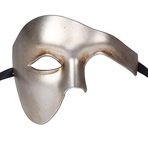 Life Is Good Qualité Demi Visage Fantôme Vénitien Masque de Mascarade Partie des Yeux Masque Antique Argent Carnaval