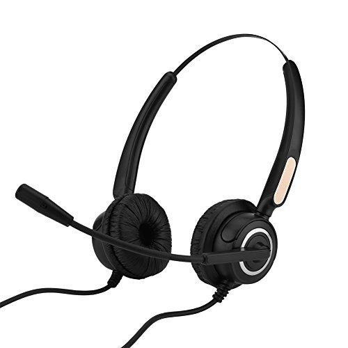 iFCOW Business-Headset, leicht, USB, Geräuschunterdrückung, USB, Call-Center-Headset mit Mikrofon für Büro-Center