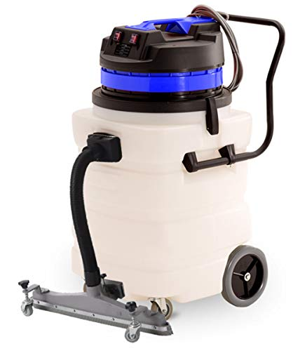 Industrial Vacuum Cleaner Wet/Dry - 2 Motors - Front Squeegee - 24 Gallon
