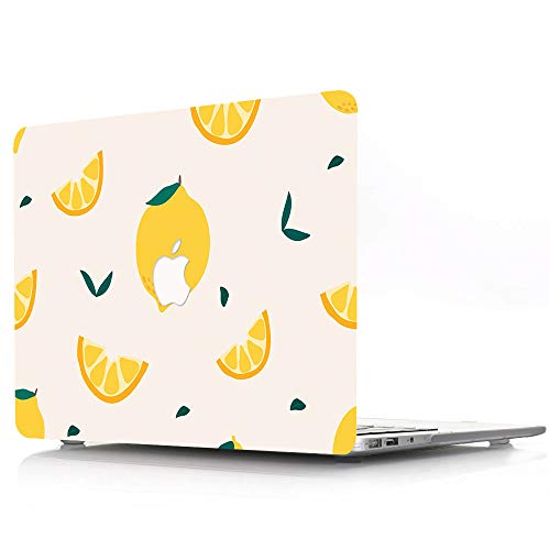 MacBook Pro 13 inch Case 2012 2013 2014 2015 Release A1425 A1502, Fruit Lemon Pattern Plastic Hard Shell Case Compatible with MacBook Pro 13'/13.3' with Retina Display - Yellow