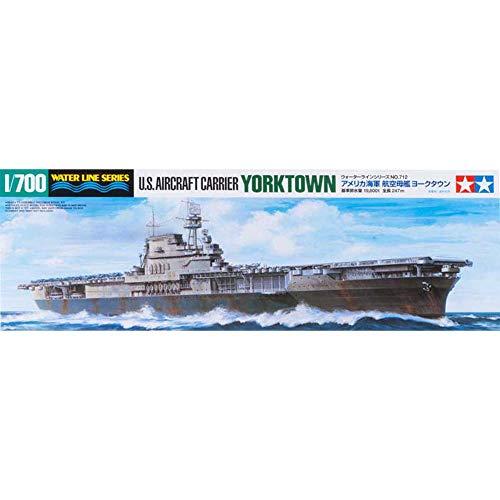 Tamiya 300031712 - Maqueta del portaaviones USS Yorktown CV-5 (Escala: 1:700)