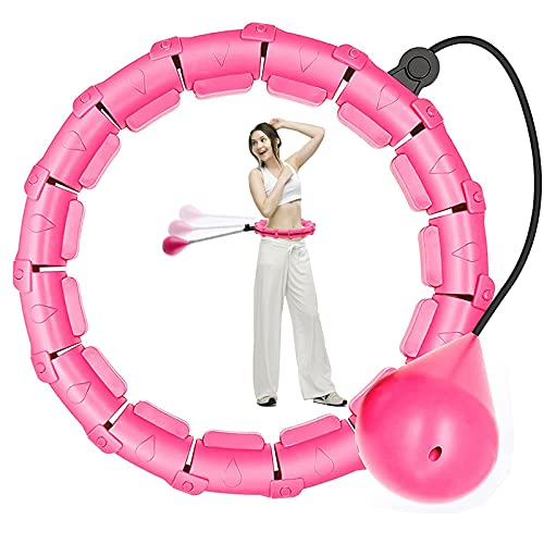 Ansharinc Weighted Hula Hoops for Adults and Kids Smart Hula Hoops for Weight Loss 1kg Adjustable Weighted Hula Hoop for Exercise Fitness Hula Hoops at Home and Office