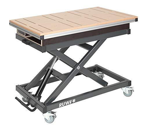 Arbeitstisch Multiplex Nut mit Schubkasten und Stauraum