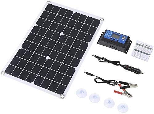 Lixada 50W DC 5V / 18V Dual Output Solarpanel mit 2 USB-Anschlüssen...