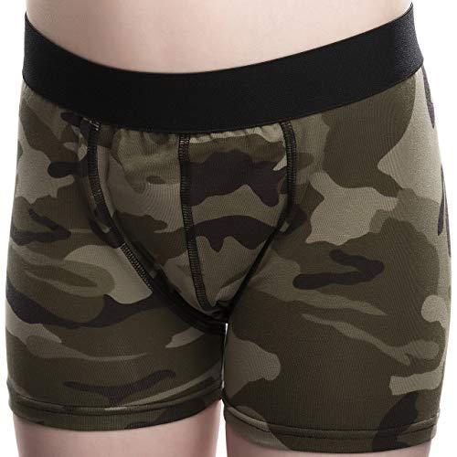 DRY & COOL Tages-Inkontinenzslip für Jungen | Unterwäsche | Waschbar | Absorbierende Einlage | Army | 122-128 cm (7-8 Jahre)
