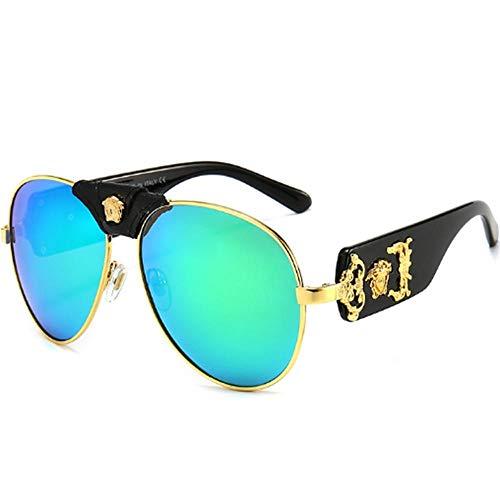 Mode retro metalen zonnebril zonnebril heren en dames UV400 HD-beschermingslens