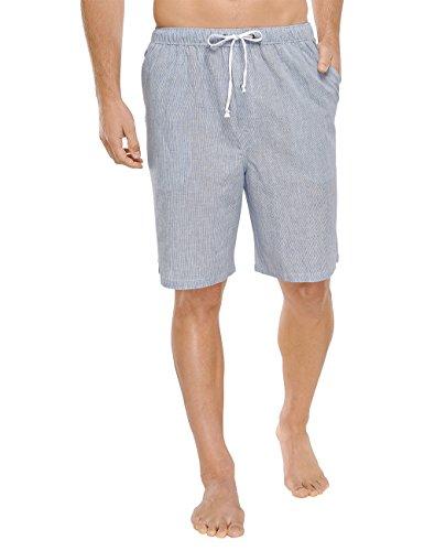 Schiesser Herren Bermuda Schlafanzughose, Weiß (Weiss 100), Small (Herstellergröße: 048)