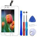 Brinonac Pantalla para iPhone 6, 4.7' Táctil LCD de Repuesto Ensamblaje de Marco Digitalizador con Herramienta de reparación y Protector de Pantalla (Blanco)