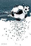 Notizbuch: Fussball Notizbuch A5 liniert   Notizheft   Tagebuch   Journal   Geschenk für Fussballer Fussballfans 1   120 Seiten