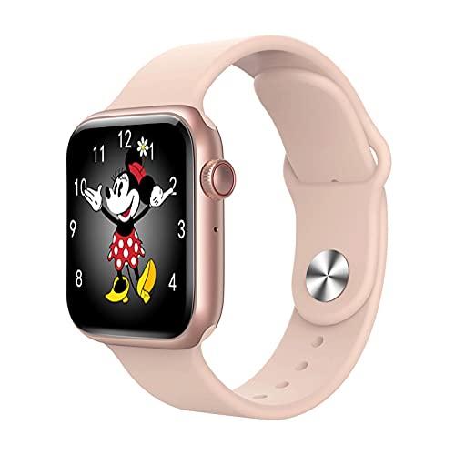 lizeyu Reloj Inteligente con frecuencia cardíaca Deportiva con Pulsera Bluetooth T500plus T500 + Plus Rosa