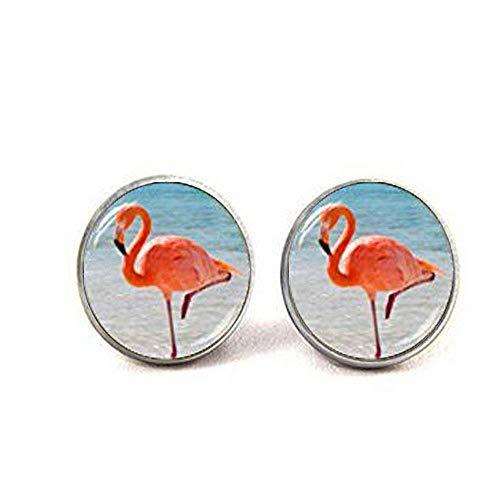 Roze Flamingo Oorbellen, Zomer Sieraden, Flamingo Post Oorbellen, Flamingo Beach Sea Stud Oorbellen, Print Sieraden
