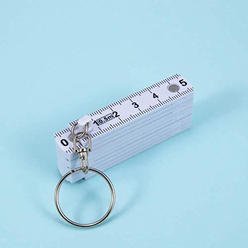 DdA8yonH sleutelhanger 50 cm vouwen sleutelhanger ring plastic vouw liniaal meetlint timmerman sleutelhanger meetinstrument draagbare
