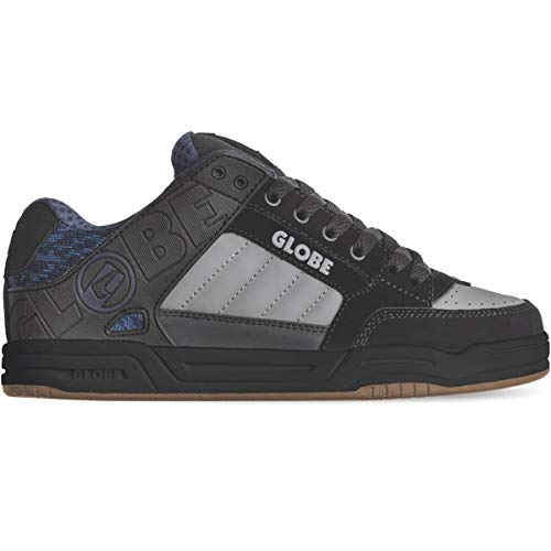 Globe Herren Tilt Skateboardschuhe, Mehrfarbig, Schwarz, Blau (Black/Blue/Knit/Gum 000), 45 EU